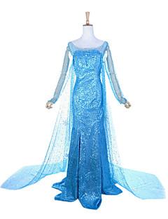 Frozen Princess Elsa Deluxe Blue Polyester Women's Halloween Costume