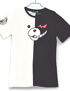 Inspired by Dangan Ronpa Monokuma Video Game Cosplay Costumes Cosplay T-shirt Color Block White / Black Short Sleeve T-shirt