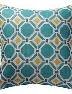 """18 """"double-face linge motif géométrique nouveauté de polygone impression de coton taie d'oreiller décoratif"""