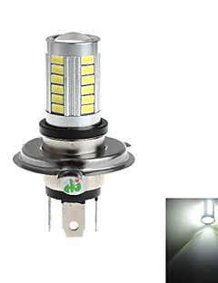 H4 8W 33x5730 SMD 800lm 6000-6500K White Light LED-lampa för bil Dimljus (DC 12-24V)