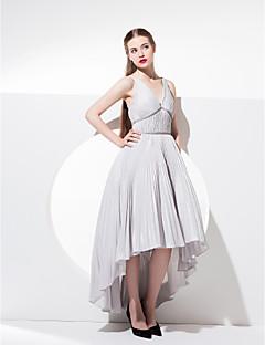 homecoming ts vestido de fiesta / baile cóctel de alta costura - vestido de fiesta con cuello en V tafetán asimétrica