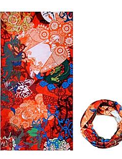 ハット バンダナ ネックゲートル バイク 高通気性 防風 抗紫外線 耐久性 サンスクリーン 女性用 男性用 男女兼用 オレンジ ポリエステル