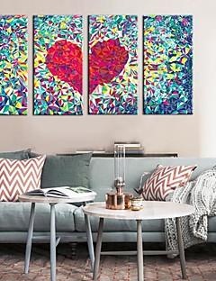 Toiles Art Abstrait Amour Ensemble de 4