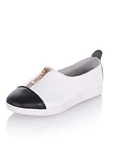 Pelle delle donne tacco piatto Comfort fannulloni Shoes (più colori)