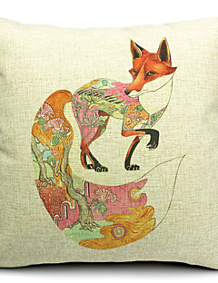 vacker räv bomull / linne dekorativa örngott