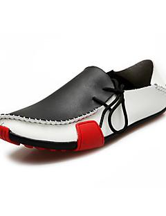 Scarpe da uomo Tempo libero/Ufficio e lavoro/Casual Di pelle Scarpe da barca Nero/Marrone/Grigio