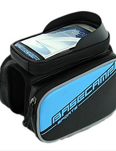 Bolsa para Quadro de Bicicleta / Bolsa Celular (Azul , Pele PU / EVA)Á Prova-de-Água / Camurça de Vaca á Prova-de-Choque / Vestível /