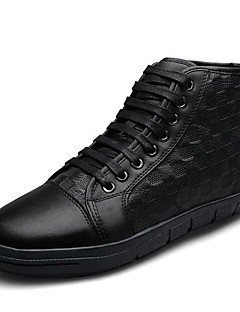 Men's Shoes Casual Leather Fashion Sneakers Black / Brown