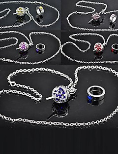 Jewelry Inspired by Puella Magi Madoka Magica Cosplay Anime Cosplay Accessories Necklace Red / Yellow / Blue / Purple / Pink Alloy Female