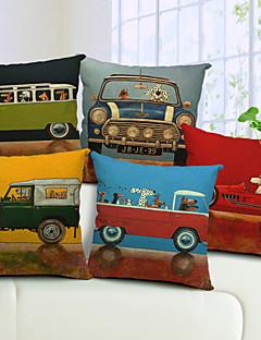 lot de 5 dessin animé de coton conducteur de chien / linge taie d'oreiller décoratif