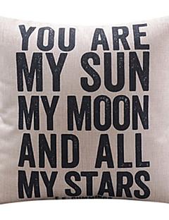 du är min sol bomull / linne dekorativa örngott