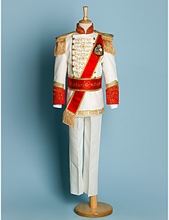 Polyester Ring Bearer Suit - 5 Pieces Includes  Jacket / Shirt / Pants / Waist cummerbund / Suspenders