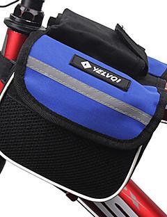 Bolsa para Quadro de Bicicleta (Preto / Azul , Grade) Á Prova-de-Água Ciclismo