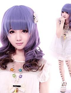 filmmag purpur lockig lång söt lolita peruk