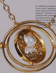 harry potter convertisseur de temps alliage d'or collier cosplay