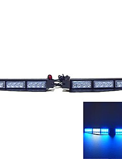 coche camión estroboscópico peligro barra de luces de emergencia 24 LED exclusivo de tablero visera split (colores opcionales)