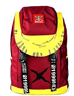 ワンピースモンキー·D·ルフィ赤&黄色のコスプレバックパック/バッグ