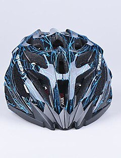 MOON 27 Vents PC+EPS Integrally-molded Black and Blue Cycling Helmet (56-62cm)