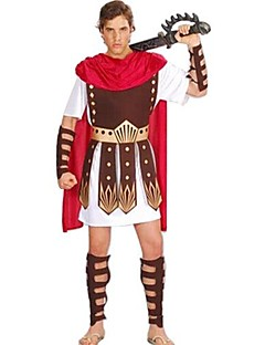 Cosplay Costumes / Party Costume Roman Costumes Festival/Holiday Halloween Costumes Brown Patchwork Dress / CloakHalloween / Christmas /