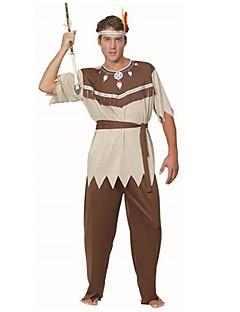 halloween traje indiano adulto do homem primitivo marrom