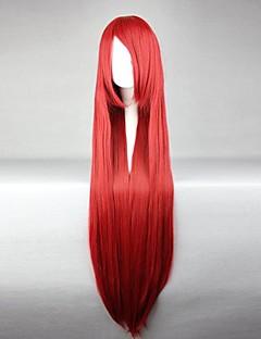 פאות קוספליי סיפור אגדה Elza Scarlet אדום ארוך אנימה פאות קוספליי 100 CM סיבים עמידים לחום נקבה