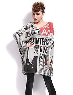 QLZW®Women's Print Loose Knitwear Sweater