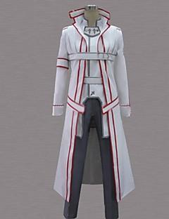 Inspirerad av Sword Art Online Kirito Animé Cosplay Kostymer/Dräkter cosplay Suits Lappverk Vit Lång ärm Kappa / Byxor / Bälte
