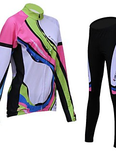 REALTOO® Cycling Jersey with Tights Women's Long Sleeve Bike Breathable / Thermal / Warm / Fleece LiningJersey / Tights / Jersey +