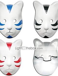 Mask Innoittamana Naruto Cosplay Anime Cosplay-Tarvikkeet Mask Musta / Punainen / Sininen PVC Uros / Naaras