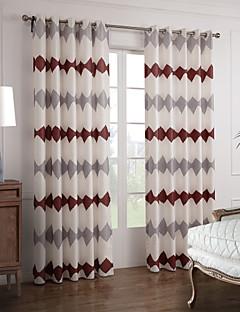 zwei Panele Window Treatment Modern , Neuheit Schlafzimmer Polyester Stoff Haus Dekoration For Fenster