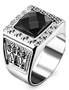 Pánské Dámské Prsteny s kamenem láska Přizpůsobeno bižuterie Nerez Akrylát Umělé diamanty Square Shape Geometric Shape Šperky Šperky Pro