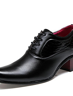Men's Oxfords Spring Summer Fall Winter Comfort Leatherette Office & Career Casual Flat Heel Black