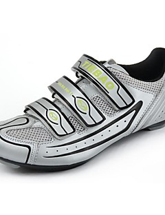 TB16-B1230 Road Cycling Shoes with Fiberglass Sole And PVC Leather Upper(Silver+Black)