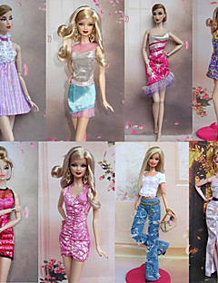 Party/Abends Kleider Für Barbie-Puppe Rosa Kleider Für Mädchen Puppe Spielzeug