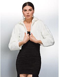 Элегантный длинный рукав искусственного меха свадьба / партии / вечер куртки обертывания болеро плечами