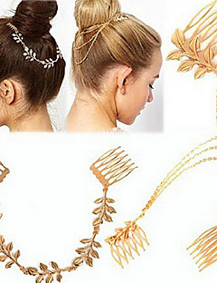 Golden Leaves Two Hair Combs Fashion Hair Jewelry