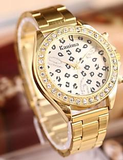 Dame Modeur Armbåndsur Quartz Rustfrit stål Bånd Leopard Guld