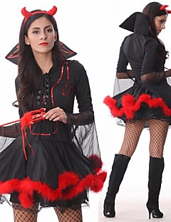 Cosplay Costumes Party Costume Fairytale Angel/Devil Festival/Holiday Halloween Costumes Black Patchwork Dress Headpiece More Accessories
