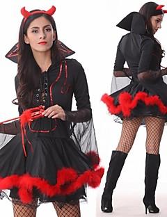 Cosplay Kostýmy / Kostým na Večírek Pohádkové Festival/Svátek Halloweenské kostýmy Černá Patchwork Šaty / Vlasové ozdoby / Více doplňků