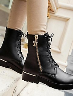 Women's High Quality Fashion Joker Pure Color Anti-Skid Warm Genuine Leather Snow Boots