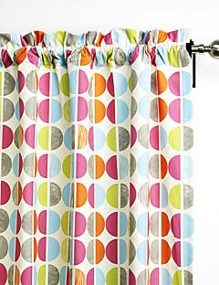 philips jeune - (un panneau) contemporain couleur multi minimaliste cercles rideau