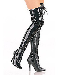 Stiefel Fest/Feiertage Halloween Kostüme Schwarz Halloween / Karneval / Silvester Frau Polyurethan Leder