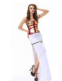Cosplay Costumes / Party Costume Roman Costumes Festival/Holiday Halloween Costumes White Patchwork Top / Dress / Armlet / Headband