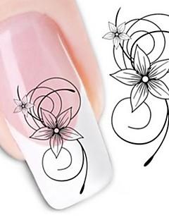 water transfer printen nagel stickers xf1443