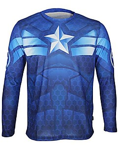 Arsuxeo Cycling Jersey Unisex Long Sleeve Bike Breathable Quick Dry Anatomic Design T-shirt Jersey Tops Polyester Spring Fall/Autumn