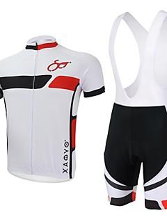 XAOYO® Cyklodres a kraťasy se šlemi Pánské Krátké rukávy Jezdit na kole Prodyšné / Rychleschnoucí / Zadní kapsa Sady oblečení/Obleky