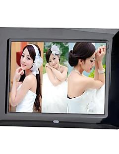Moldura digital de 8 polegadas com controle remoto de vídeo de música (branco e preto)