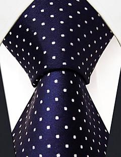 pois entreprise marine de cravate de soie bleue des hommes