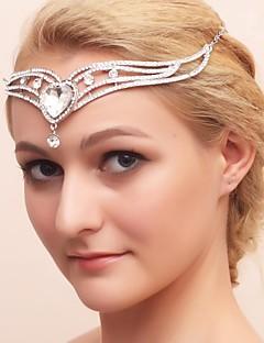 Licht Metaal/Kubieke Zirkonia Vrouwen/Bloemenmeisje Helm Bruiloft/Speciale gelegenheden Tiara's Bruiloft/Speciale gelegenheden
