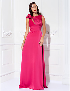 TS Couture® Prom / Formal Evening / Military Ball Dress - Elegant Plus Size / Petite Sheath / Column Scoop Floor-length Satin Chiffon